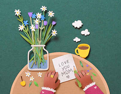 Mother`s Day | stop motion animation