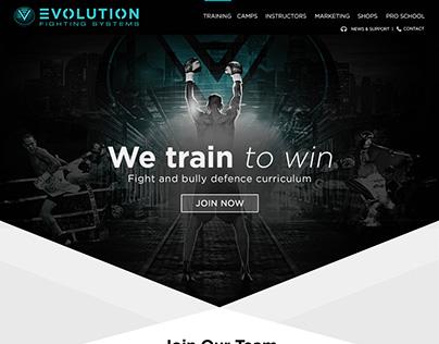Evoluiton Fighting Club Website Design