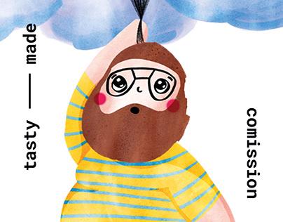 Birthdaycard Illustration