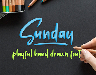 Sunday Vibes // Hand-drawn Font