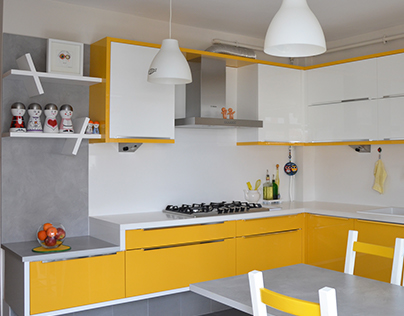 yellowhite kitchen