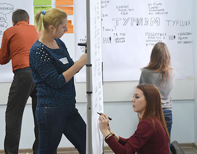 2 days Graphic facilitation course conducted in Moscow