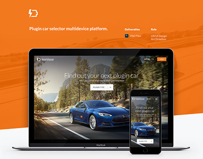 Plugin car selector - Multidevice website