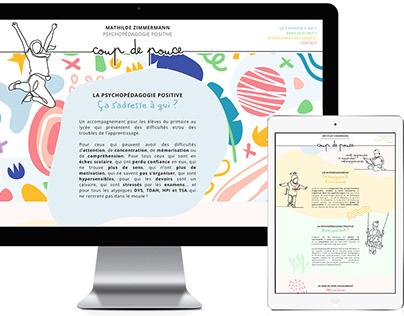Création du logo, cartes et site web de Coup de Pouce