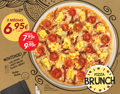 Telepizza: Logótipo Pizza Brunch