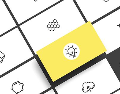 Yellow Icon Set Freebie