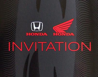 Carton d'invitation Honda