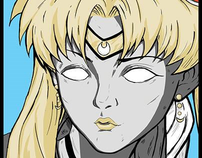 Sailor Moon Re-draw Fan art
