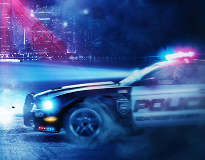 Police chase |  Photo processing retouch | oooda.ru