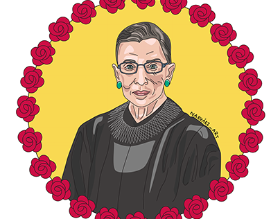 Ruth Bader Ginsburg Projects Photos Videos Logos Illustrations And Branding On Behance