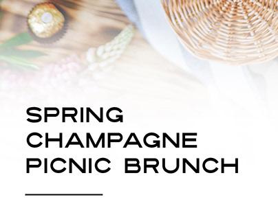 Spring Champagne Picnic Brunch: Poster Design