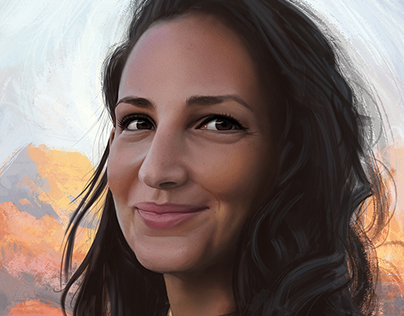 """This smile"" - Digital painting portrait"
