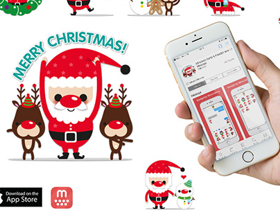 Mojilala Christmas Chat Stickers