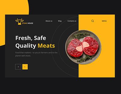 Steak Website Landing Page