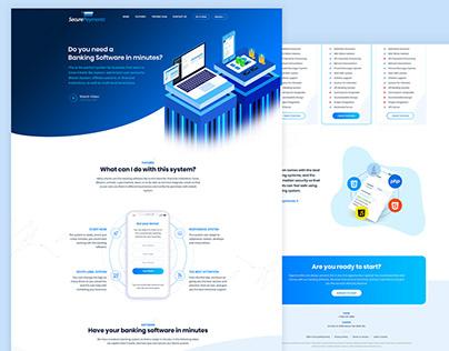 banking Software website design