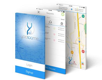 Yootoome Mobile App Design