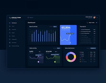 E-commerce platform dashboard