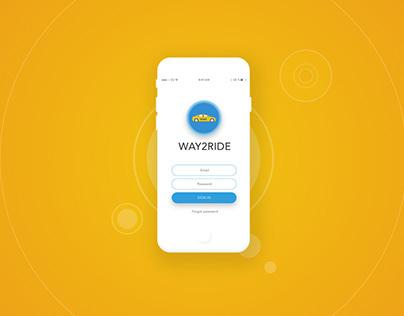 WAY2RIDE App