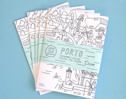 Porto Coloring Poster