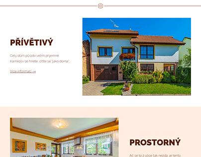 Webdesign - Prodej domu Čejkovice (2019)