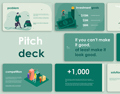 Pitch Deck with illustrations