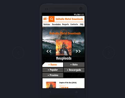 Diseño Web Responsive - Valhalla Metal Download