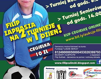 Plakaty Charytatywnych Turniejow Sportowych.