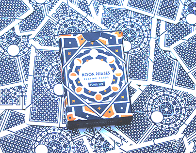Moon Phases - Playing Cards Poker Size