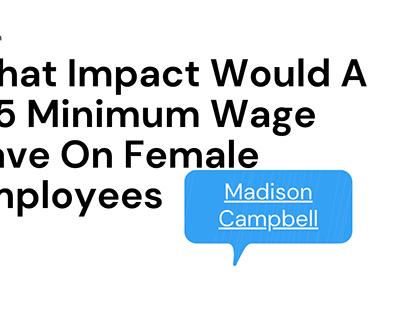 Impact Of A $15 Minimum Wage On Female Employees