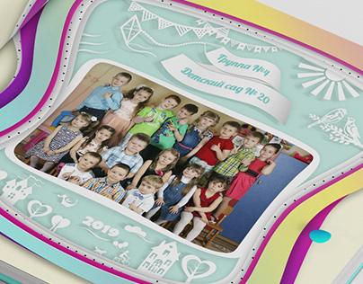 Photo Album Illustration