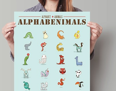 Alphabet + Animals = Alphabenimals
