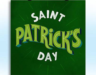saint patrick's day digital lettering