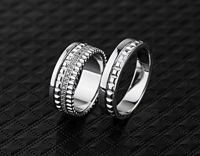 Geometriс wedding rings