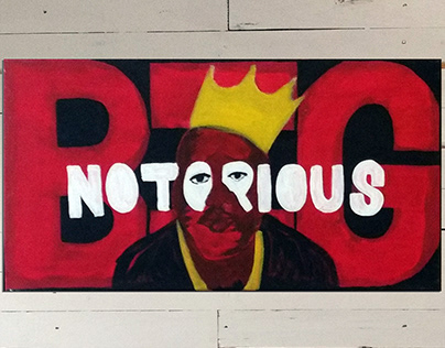 Notorious B.I.G. painted on canvas