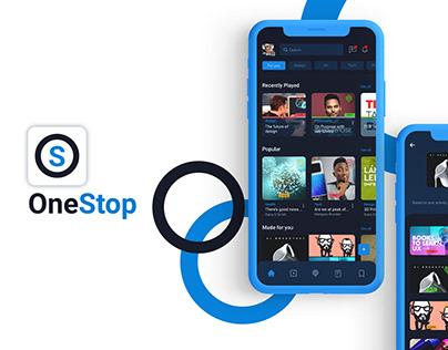 OneStop Mobile Application   UI/UX project