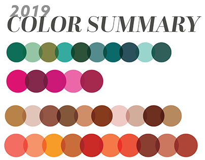 SS19 Color Trend Summary - Housewares & Interiors