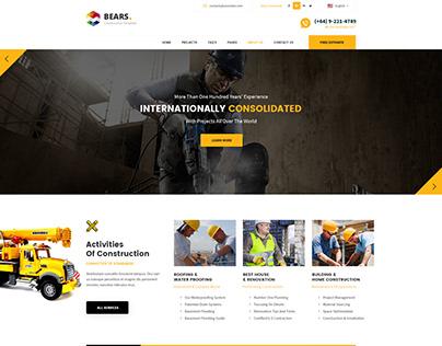 Construction and Renovation Company Website Design