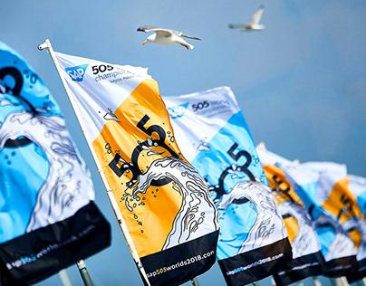 505 World Championship branding