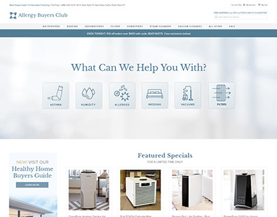 Allergy Buyers Club Website Design and Development