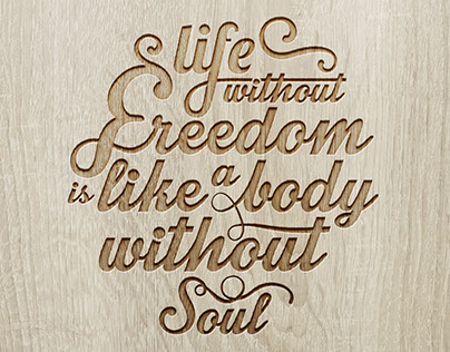 Life without freedom...