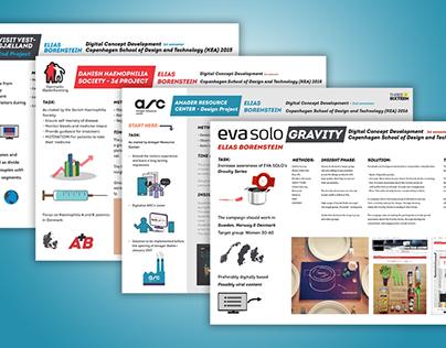 Various Projects - Digital Concept Development Sem. 1-3