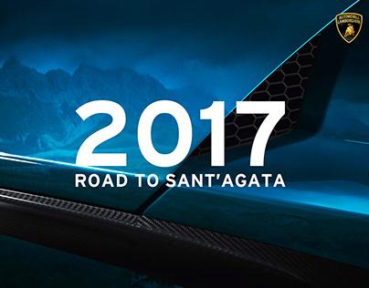 Lamborghini - Road to Sant'Agata - Calendar 2017