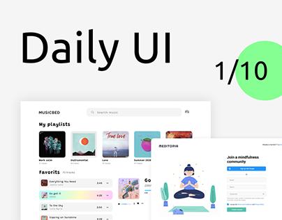 Daily UI #1-10