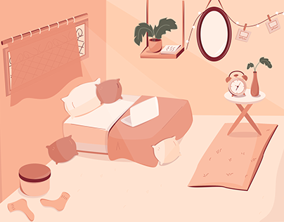 Bed Room Illustration