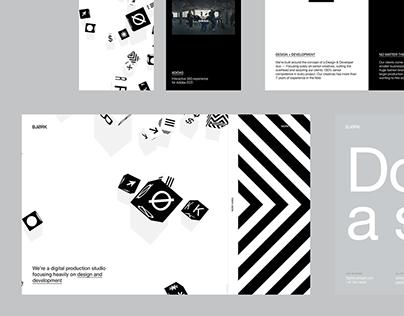 Portfolio site — Studio BJØRK