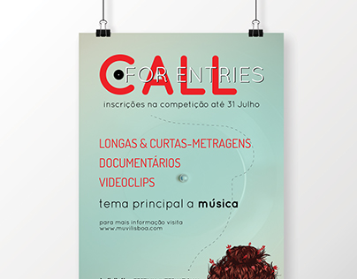 MUVI Lisboa - Call For Entries // poster + FB cover