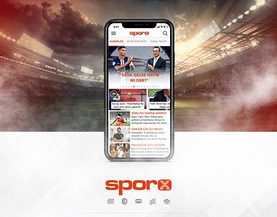Sporx / iOS App Design
