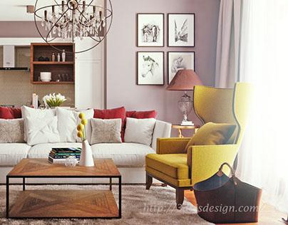 Interior rendering / Modern interior style