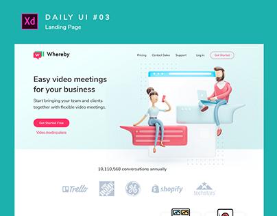 Daily Ui #003 _ Landing Page