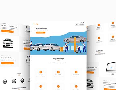 Arabeety Website for car evaluation - UI/UX